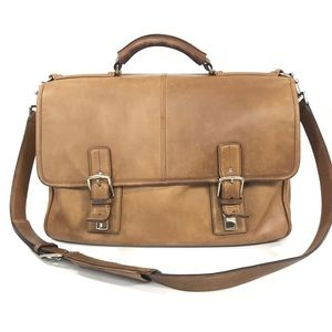 ❤️ COACH VINTAGE Tan Distressed LEATHER BRIEFCASE